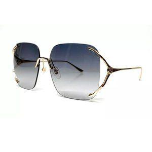 Gucci Women's Gold Grey Gradient Sunglasses